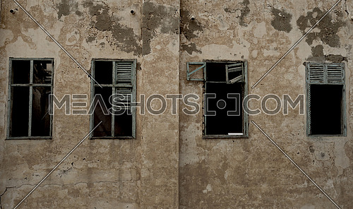 OLD WINDOWS IN an abandoned building
