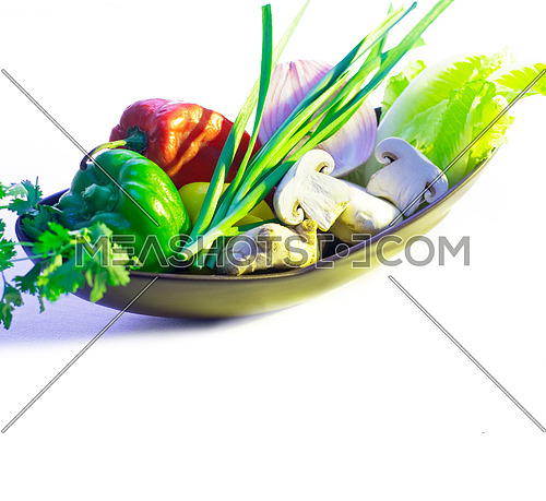 assorted fresh vegetables, base for a healty diet and nutruition