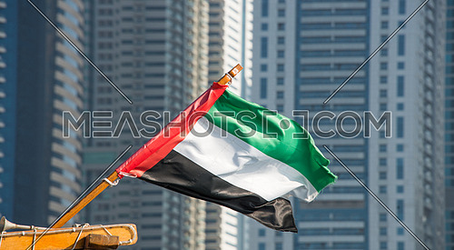 uae flag on a boat