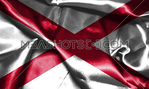 Northern Ireland Flag and Map. Saint Patrick's Saltire 3D illustration