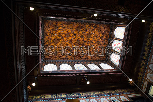 Islamic decorations in the Ceiling of Old Palace in Egypt