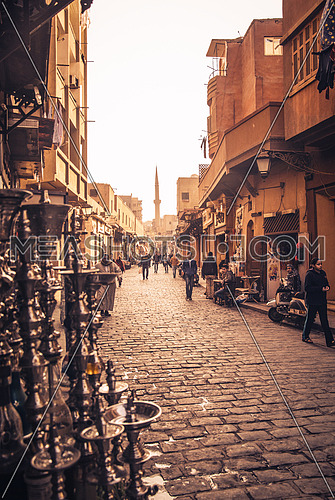 El Moez street Cairo, Egypt  Image shot on 17 JAN 2015