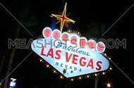 Vegas sign at night
