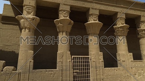 Track in shot for The Temple of Phila column in Awan - Egypt By Day