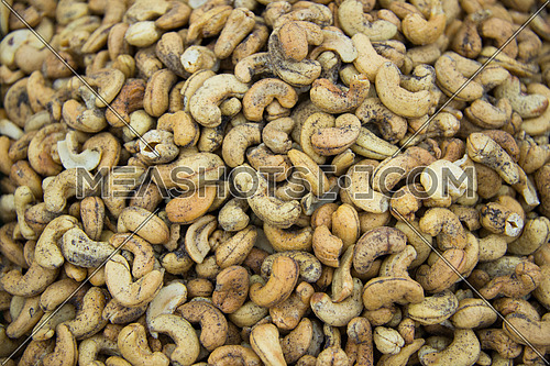 cashew nuts in display