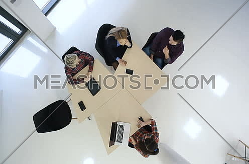 Diverse business people meeting at startup office space