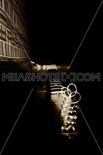 Electric Guitar Resting On Amplifire In Music Studio
