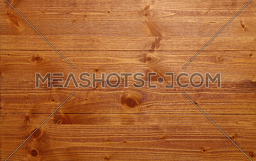 Brushed natural unpainted light knotted brown wooden planks board texture background close up