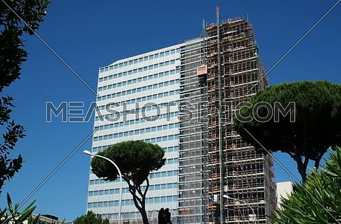 """Palace """"Unicredit"""" in recladding, EUR District, Rome. June 01, 2017"""