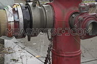 fire hydrant pumping water