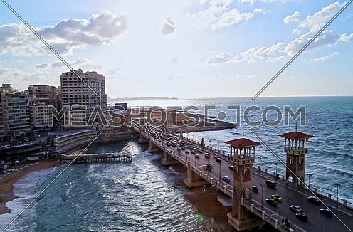 Fixed panorama shot for Stanly Bridge at Alexandria from Day
