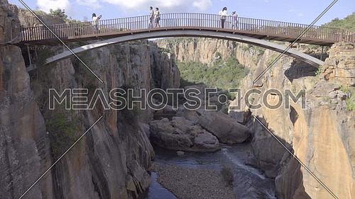 A view of the bridge at Bourke's Luck pot holes