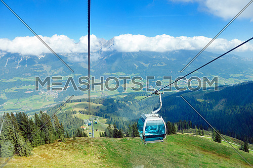 Panoramic view on Austrian Tirol Alps at beautiful sunny summer day