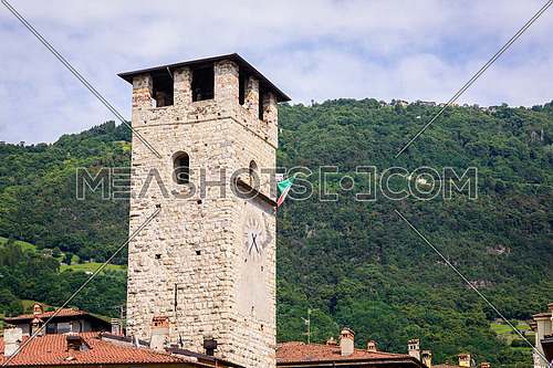 The tower of Pisogne Italy