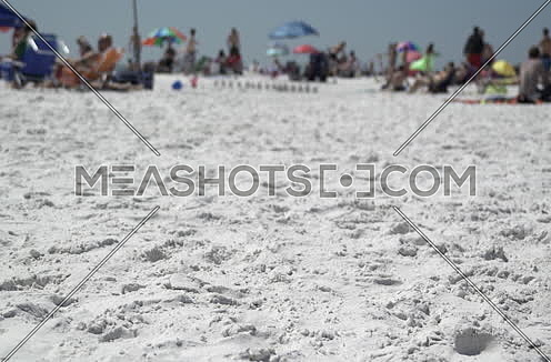 busy beach with people