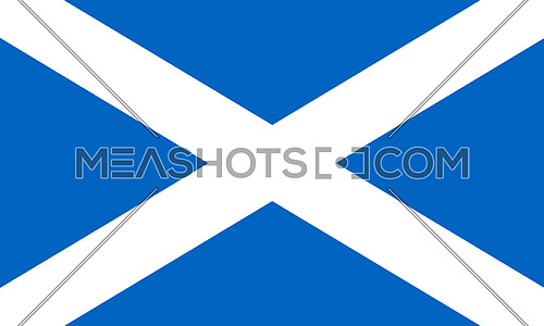 Flag Of Scotland 3D illustration