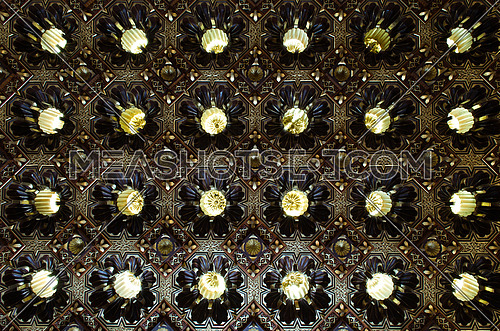 Islamic Decoration Light pattern in circle shape.