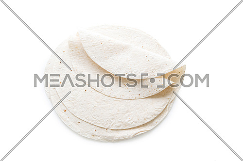 Traditional azeri lavash (bread) isolated on white