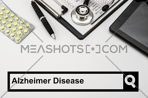 Search in the alzheimer disease network, conceptual image