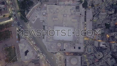 Top View Shot for Al-Azhar Mosque in Cairo by day