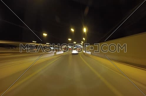 very fast night timelapse in dubai roads