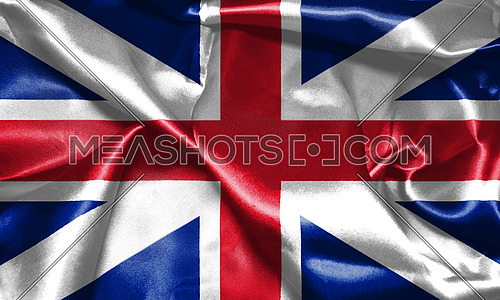 Great Britain Flag King's Colours. Civil and State Ensign 3D illustration