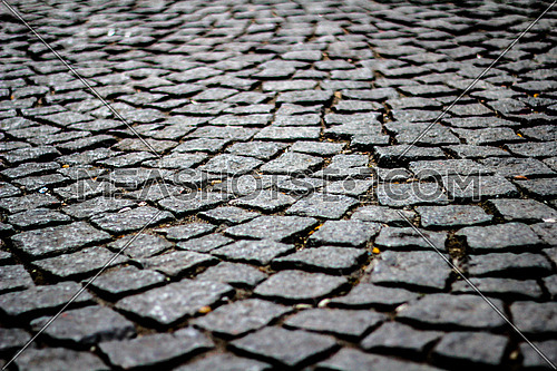 A cobble stone street in Istanbul Turkey