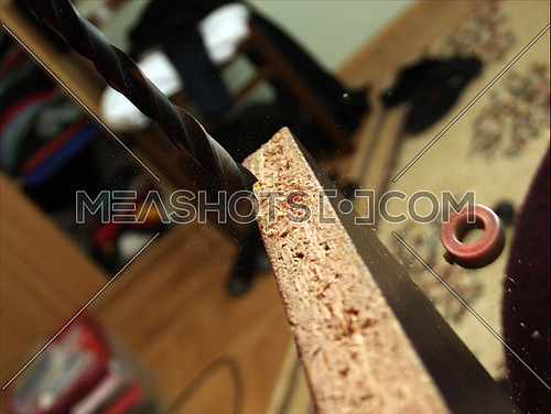 drill machine and borer macro with hi-speed photo