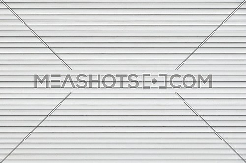 White and gray horizontal metal window roller blinds background