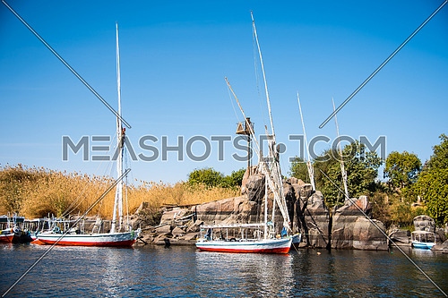 Folouka Boat On the River Nile In Aswan - Egypt