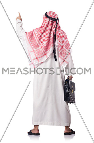 Diversity concept with arab on white