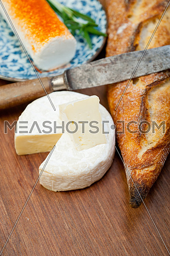 French cheese and baguette traditional