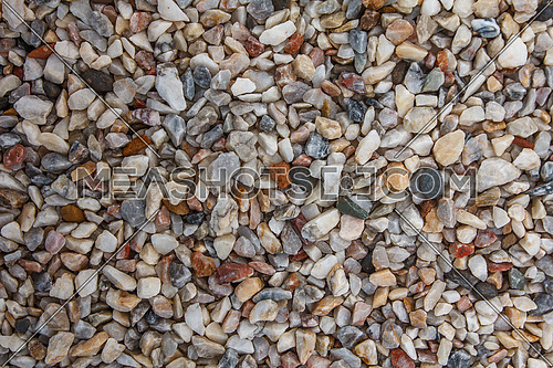 mixed colors stone and gravel