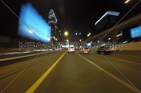 very fast night timelapse in dubai sheikh zayed road