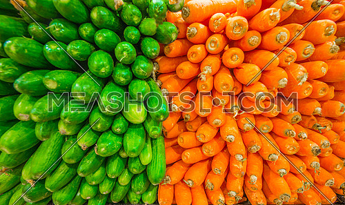 carrots and cucumber vegetables side by side