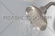 Slow Motion Water Sprays from Shower Head