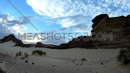 Reveal shot for Wadi Agarat in Sinai at day