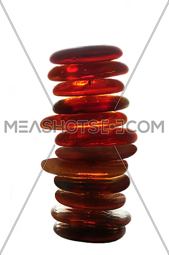 isolated wet zen stones with splashing  water drops  representing concept of natural balance and perfect harmony