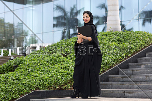 Arab student leaving after her lecture