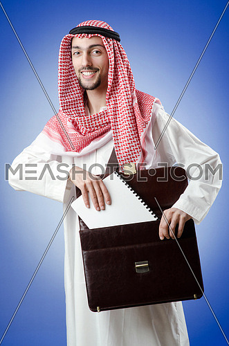 Arab businessman in studio shooting