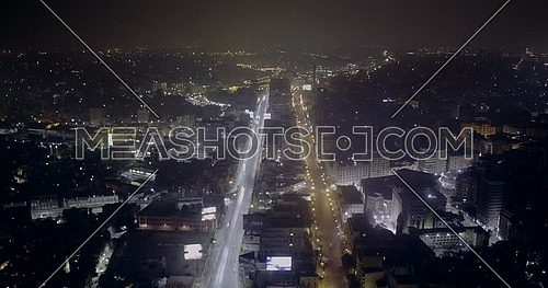 Drone Fly over Cairo at night