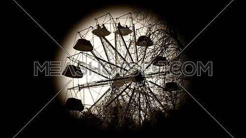 Faris wheel in the dark