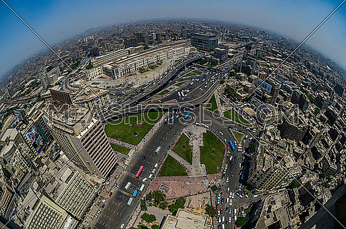The highest point of Al Fath Mosque in Ramses Square
