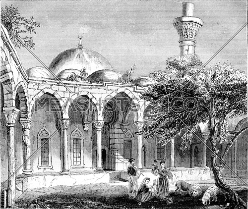 Payas, in Syria, vintage engraved illustration. Magasin Pittoresque 1843.