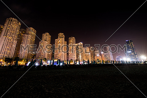Jumeirah beach residence at night 23 January 2016