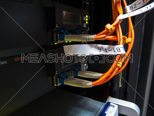 Fiber cable connector in a  Data center environment