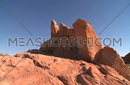 A dramatic view of the southern Nevada desert in and around the valley of fire.