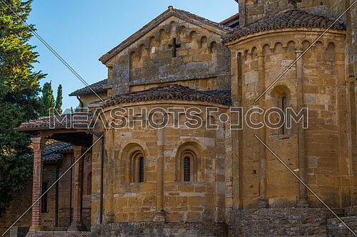 In the picture the Collegiate Castell\'Arquato near Piacenza, the church is of medieval origin and dates back to the year 758 .