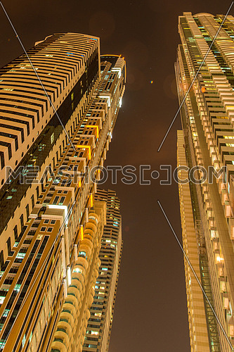 Tall residential buildings in Dubai