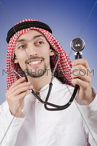 Arab doctor in studio shooting